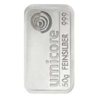 Silver Bars umicore 50 Gramm